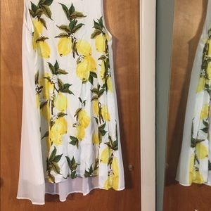 Entro lemon print mini dress